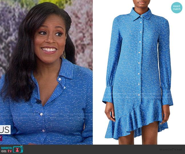 Asymmetric Shirtdress by Derek Lam 10 Crosby worn by Sheinelle Jones  on Today