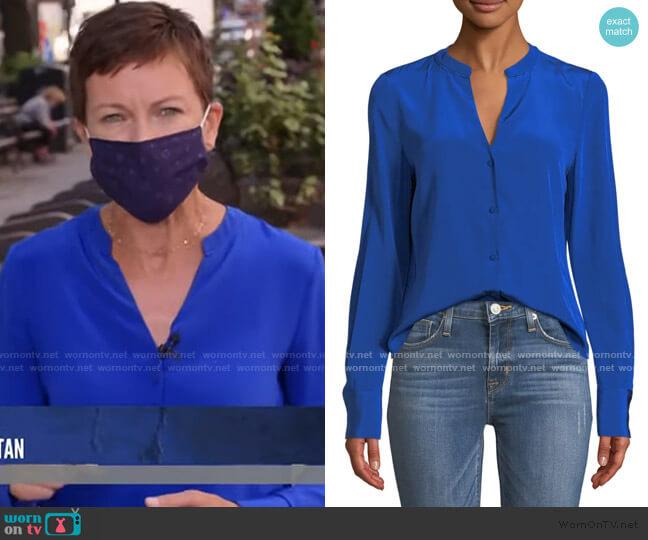 Long Sleeve V-Neck Shirt by Diane von Furstenberg