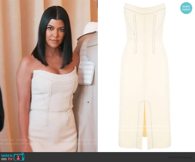 Convex Bustier Dress by Dion Lee worn by Kourtney Kardashian  on Keeping Up with the Kardashians