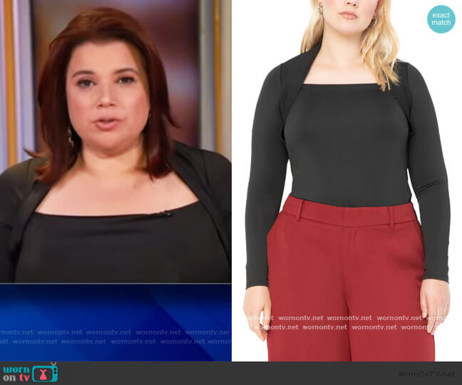 Square Neck Fitted Top by Eloquii worn by Ana Navarro  on The View