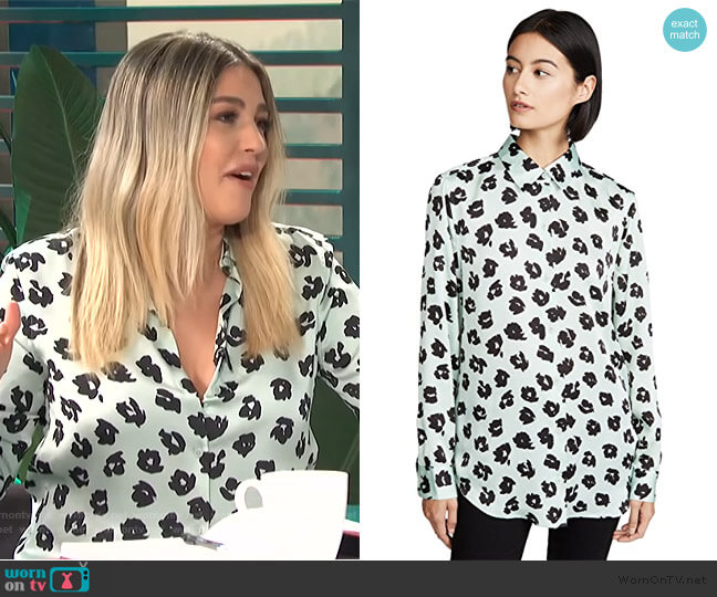 Essential Blouse by Equipment worn by Carissa Loethen Culiner  on E! News