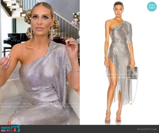 Margot Dress by Fannie Schiavoni  worn by Dorit Kemsley  on The Real Housewives of Beverly Hills