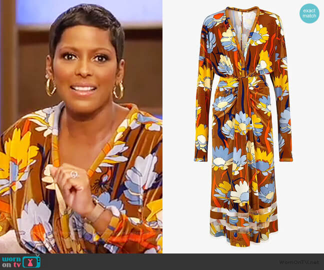 Multicolor chenille dress by Fendi worn by Tamron Hall  on Tamron Hall Show
