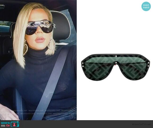 Aviator Style Sunglasses by Fendi worn by Khloe Kardashian  on Keeping Up with the Kardashians
