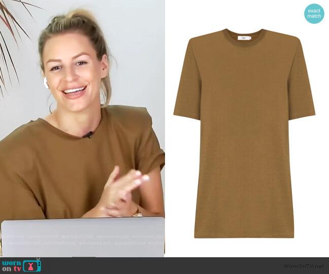 Sean padded shoulder T-shirt dress by Frankie Shop worn by Morgan Stewart  on E! News