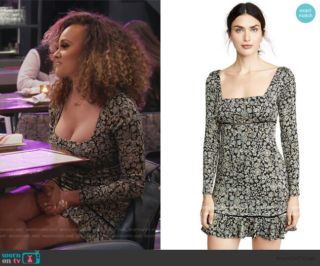 Boheme Floral Mini Dress by Free People worn by Ashley Darby  on The Real Housewives of Potomac