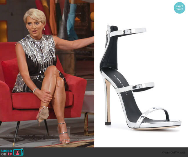Harmony sandals by Giuseppe Zanotti worn by Dorinda Medley  on The Real Housewives of New York City