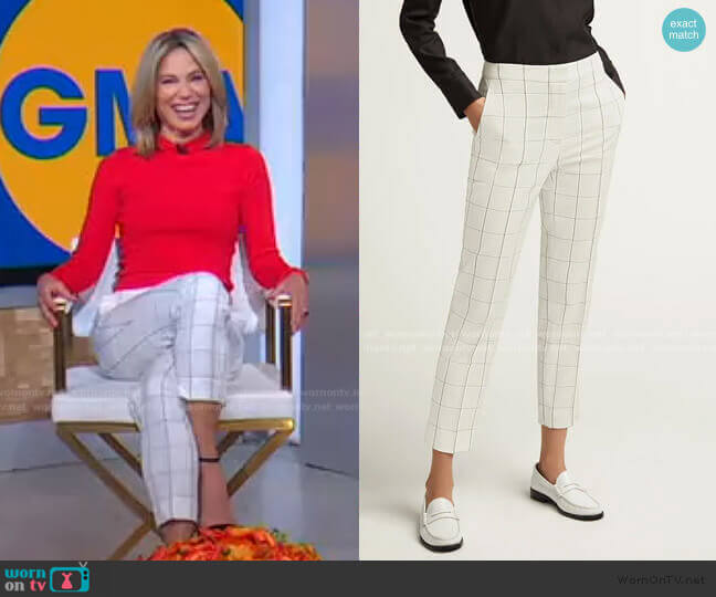 Grid Plaid Tailored Trouser by Argent worn by Amy Robach  on Good Morning America