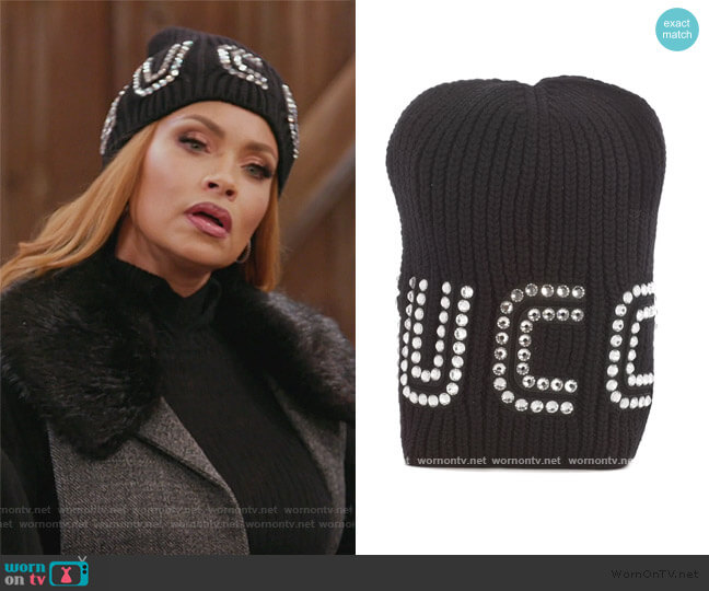 Gucci Guccy Crystal Embellished Beanie by Gucci worn by Gizelle Bryant  on The Real Housewives of Potomac