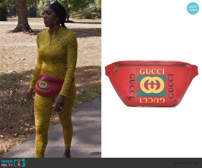 Logo Belt Bag by Gucci worn by Wendy Osefo  on The Real Housewives of Potomac