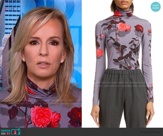 Haskee Shadow Rose Top by Dries van Noten worn by Jennifer Ashton on GMA