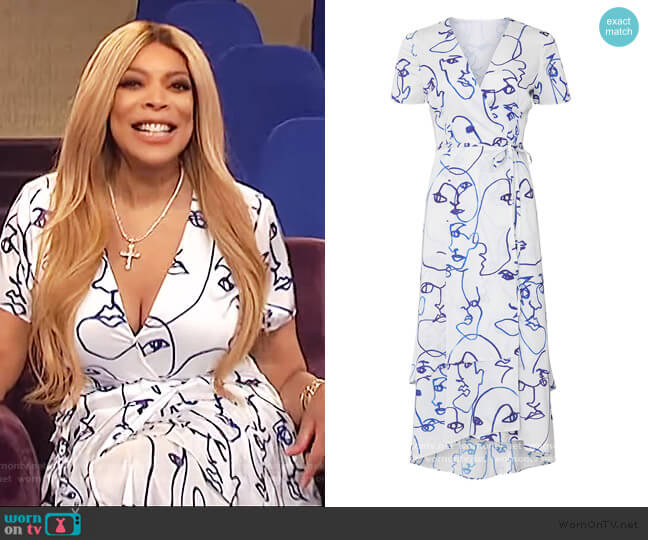 Printed Rosa Dress by Hutch worn by Wendy Williams  on The Wendy Williams Show