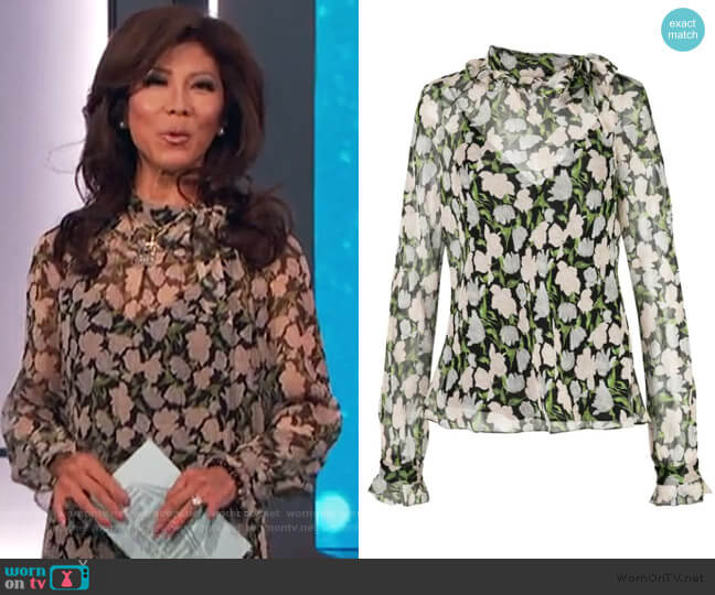 Sheer Floral Blouse by Jason Wu worn by Julie Chen  on Big Brother