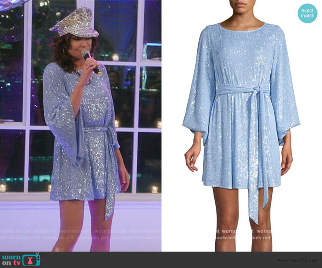 Maggie Sequined Belted Dress by Jay Godfrey worn by Luann de Lesseps  on The Real Housewives of New York City