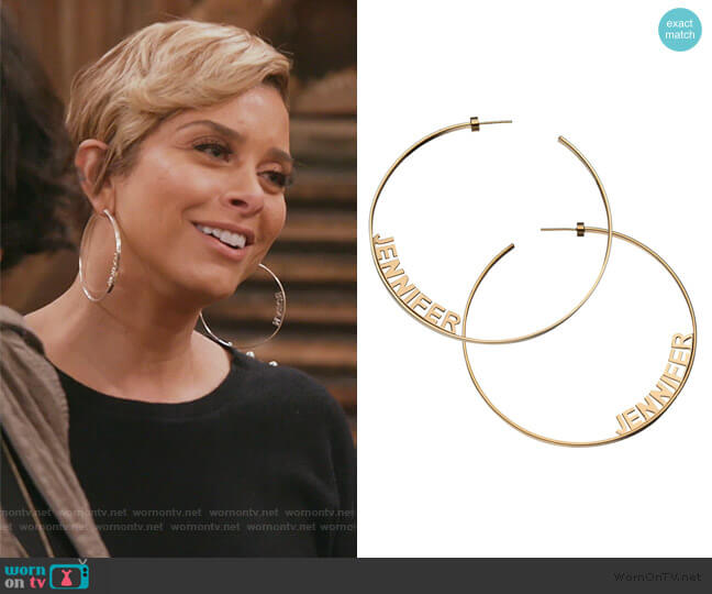 Ciara 3 Hoops by Jennifer Zeuner worn by Robyn Dixon  on The Real Housewives of Potomac