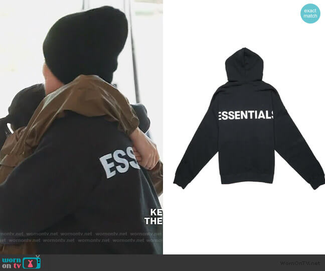 Fear of God Hoodie by Jerry Lorenzo worn by Khloe Kardashian  on Keeping Up with the Kardashians
