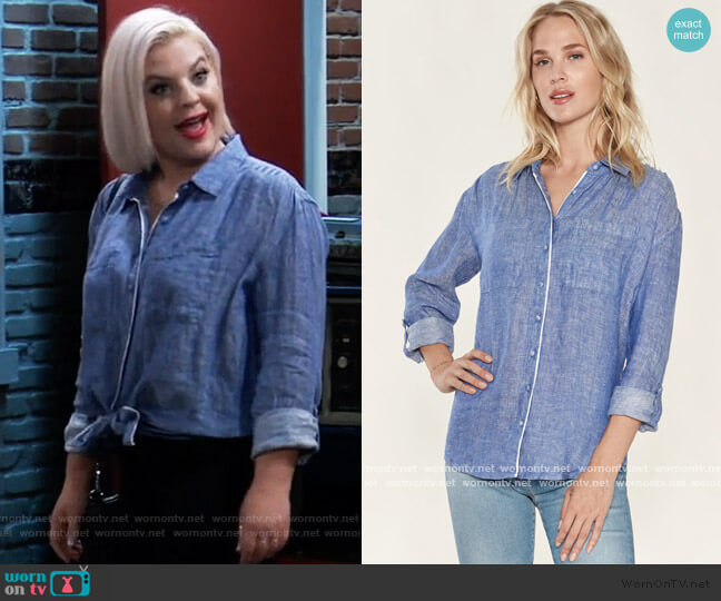 Lidelle G Top by Joie worn by Maxie Jones (Kirsten Storms) on General Hospital
