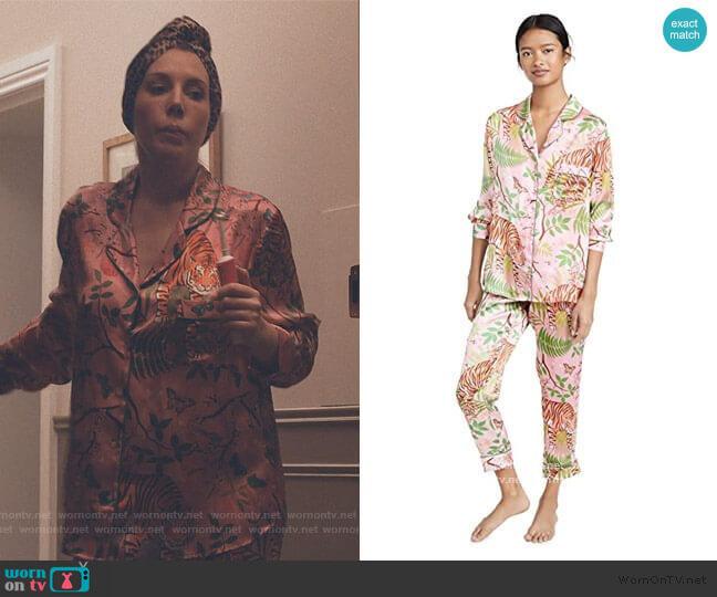 Tiger Blossom Pajamas by Karen Mabon worn by Katherine (Katherine Ryan) on The Duchess