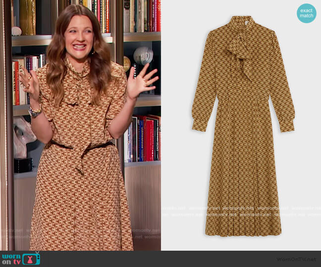 Long Dress with Bow by Celine worn by Drew Barrymore  on The Drew Barrymore Show