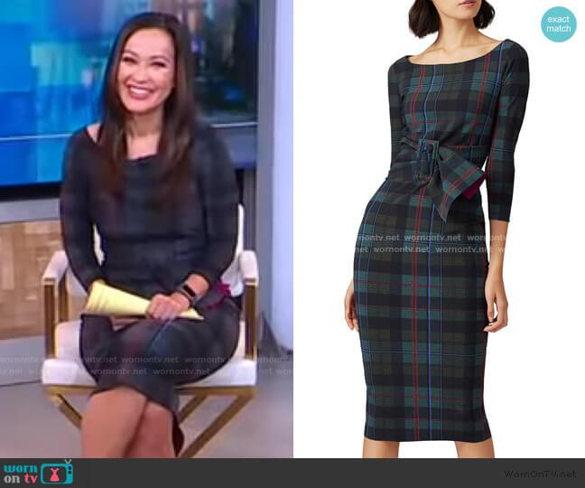 Plaid Thayna Sheath Dress by La Petite Robe di Chiara Boni worn by Eva Pilgrim  on Good Morning America