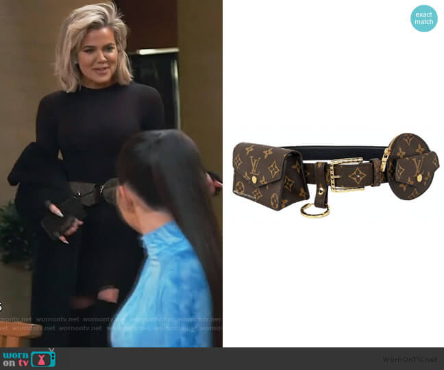 Daily Multi Pocket Belt by Louis Vuitton worn by Khloe Kardashian  on Keeping Up with the Kardashians