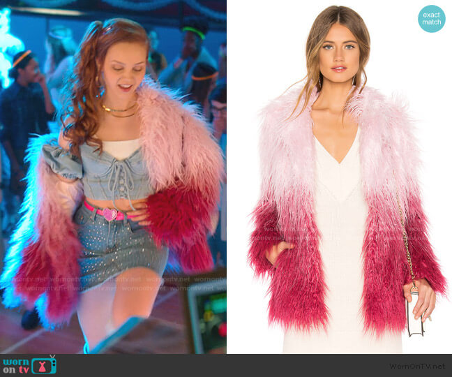 Stella Coat by Majorelle worn by Carrie (Savannah Lee May) on Julie & the Phantoms