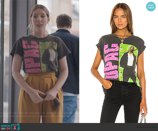 Tupac All Eyez On Me Tee by Madeworn worn by Katherine (Katherine Ryan) on The Duchess