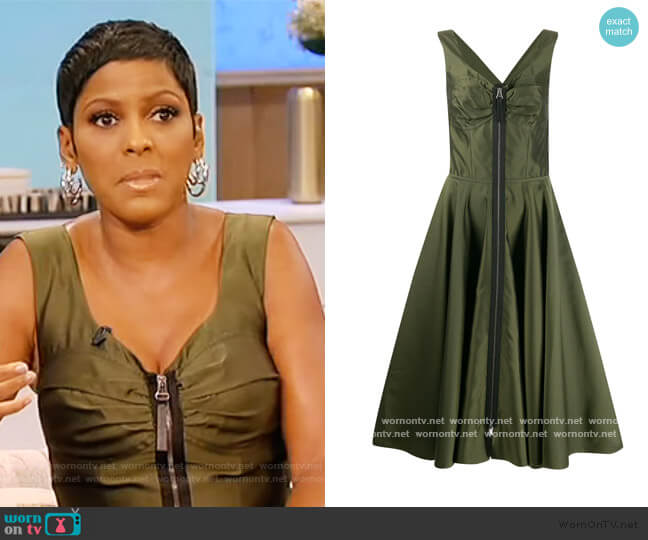 Zip-through bustier-inspired twill midi dress by Marni worn by Tamron Hall  on Tamron Hall Show