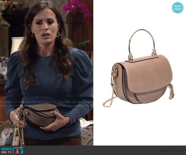 Isabel Small Crossbody Bag by Melie Bianco worn by Chelsea Lawson (Melissa Claire Egan) on The Young & the Restless