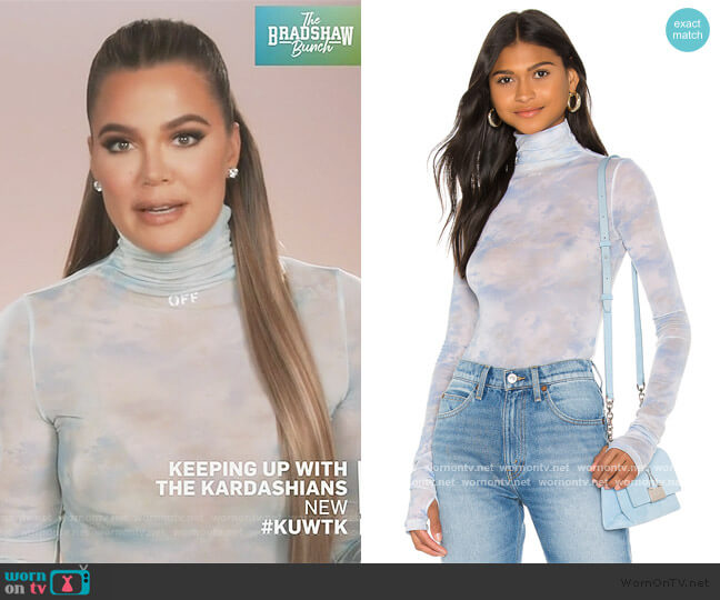 Tie Dye Turtleneck Bodysuit by Off-White worn by Khloe Kardashian  on Keeping Up with the Kardashians