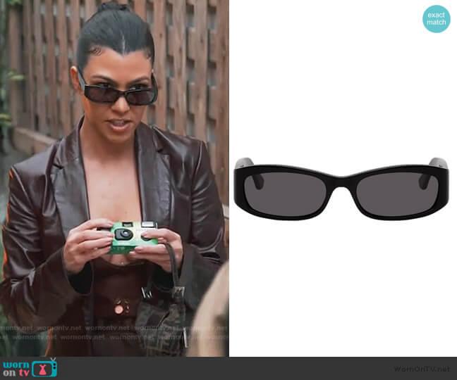 Black Leila Sunglasses by Port Tanger worn by Kourtney Kardashian  on Keeping Up with the Kardashians
