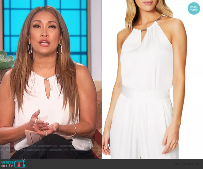 Sonya Chain Halter Top by Ramy Brook worn by Carrie Inaba  on The Talk