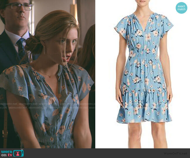 Daniella Floral Print Dress by Rebecca Taylor worn by Sterling Wesley (Maddie Phillips) on Teenage Bounty Hunters