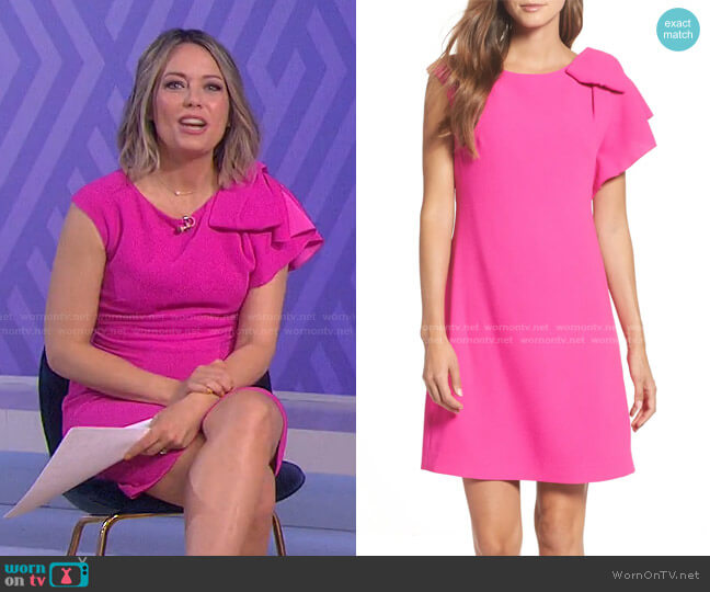 Ruffle Shoulder Shift Dress by Eliza J worn by Dylan Dreyer  on Today