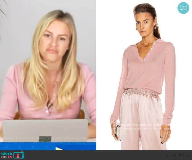 Lexi Polo Top by Sablyn worn by Morgan Stewart  on E! News