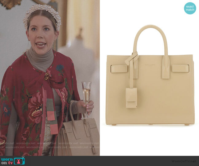 Beige Sac De Jour Tote Bag by Saint Laurent worn by Katherine (Katherine Ryan) on The Duchess