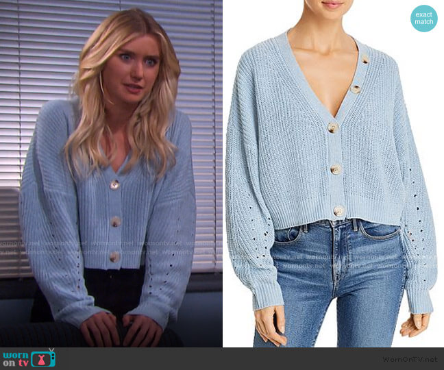 Scarlett Cropped Cardigan by Line & Dot worn by Claire Brady (Isabel Durant ) on Days of our Lives