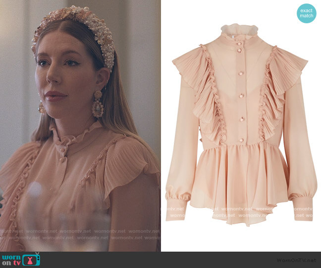 Ruffle Blouse by See by Chloe worn by Katherine (Katherine Ryan) on The Duchess