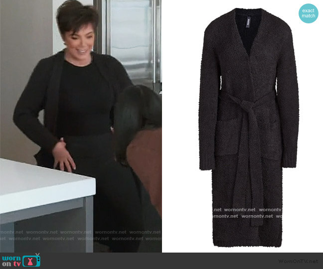 Cozy Knit Robe by Skims worn by Kris Jenner  on Keeping Up with the Kardashians