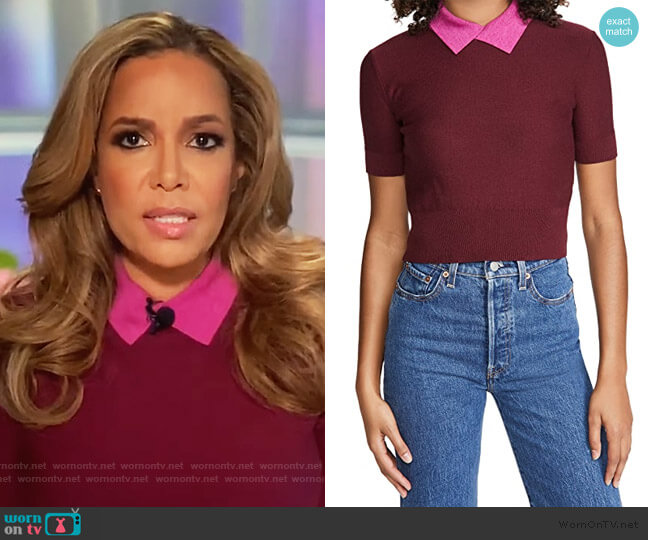 Acorn Sweater by Staud worn by Sunny Hostin  on The View