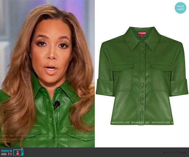 Rue boxy-fit shirt by Staud worn by Sunny Hostin  on The View