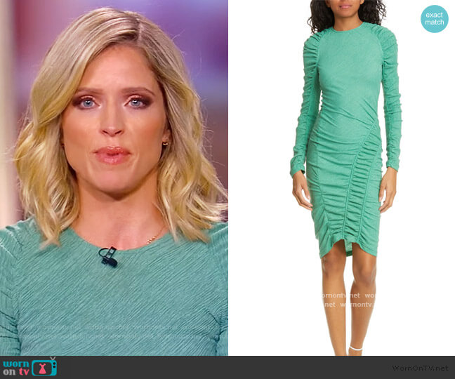 Ezra Ruched Long Sleeve Dress by Stine Goya worn by Sara Haines  on The View