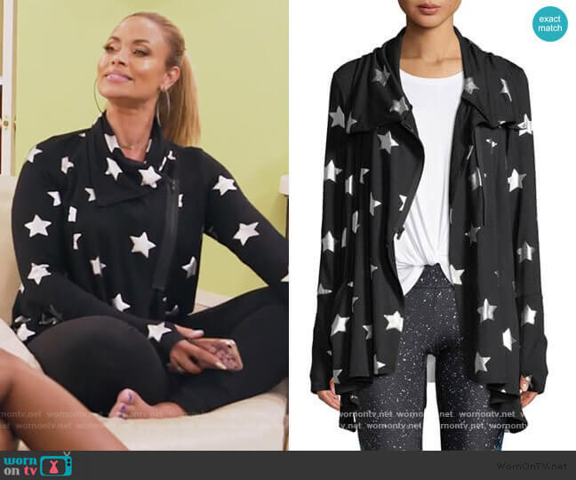 Foil-Printed Draped Zip-Front Jacket by Terez worn by Gizelle Bryant  on The Real Housewives of Potomac