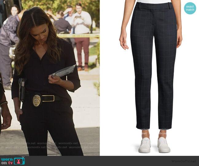 Straight Leg Windowpane Pants by Theory worn by Nancy McKenna (Jessica Alba) on LA's Finest