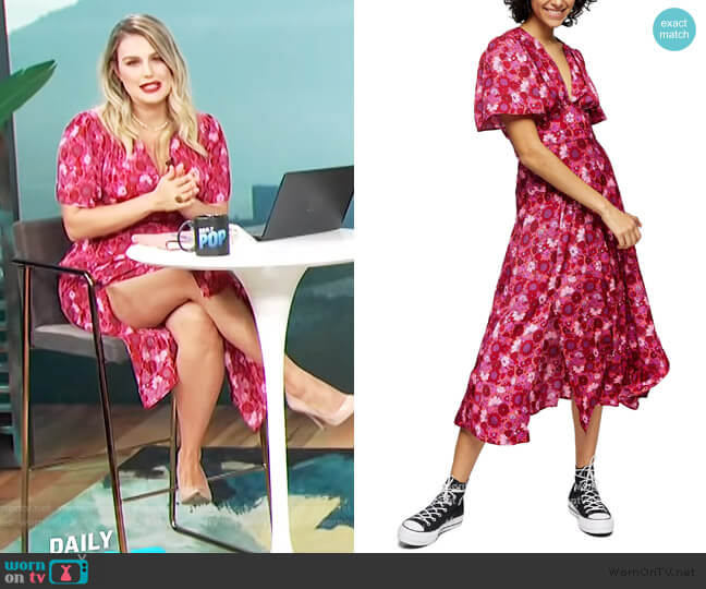 Aurelia Floral Print Midi Dress by Topshop worn by Carissa Loethen Culiner  on E! News