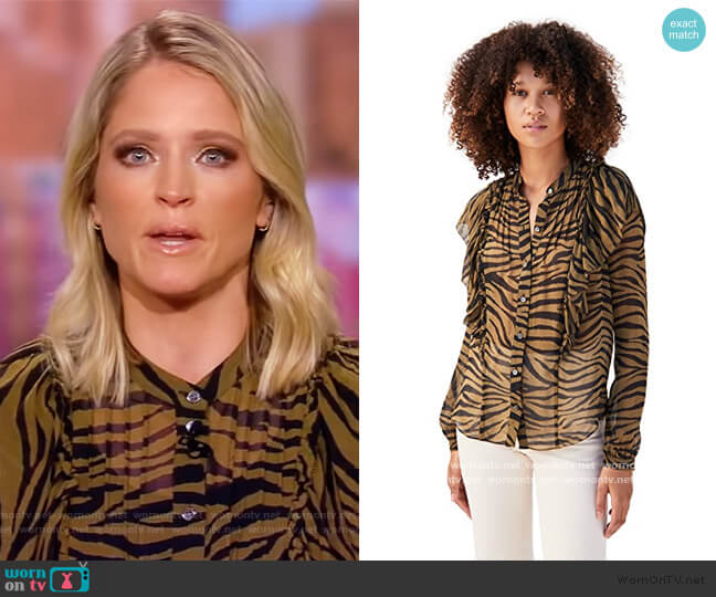Camilla Zebra Top by Veronica Beard worn by Sara Haines  on The View