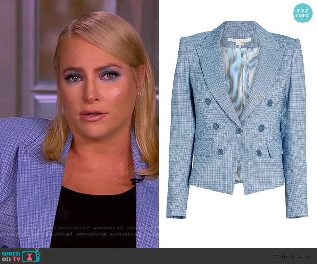 Diego Plaid Dickey Jacket by Veronica Beard worn by Meghan McCain  on The View