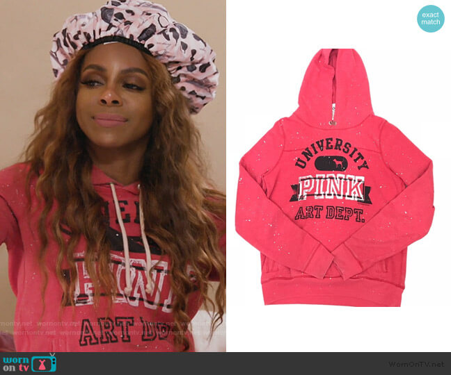 Paint Splatter Hoodie by Victoria Secret worn by Candiace Dillard Bassett  on The Real Housewives of Potomac