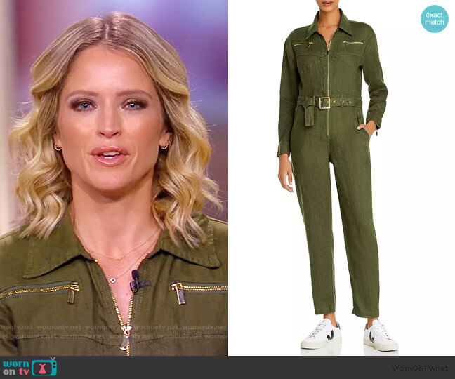 Belted Utility Jumpsuit by We Wore What worn by Sara Haines  on The View