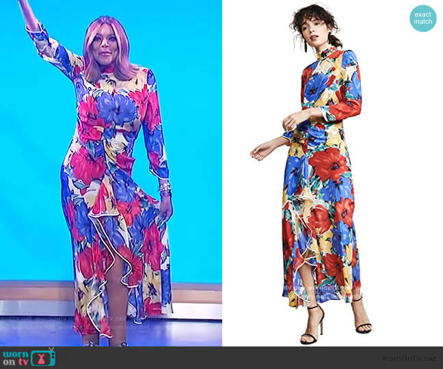 Lucy Dress by Rixo worn by Wendy Williams  on The Wendy Williams Show